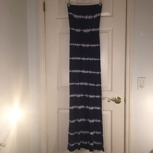 cynthia rowley strapless maxi dress the dye